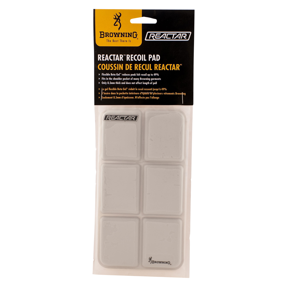 Browning 309013 White Reactar G2 Recoil Shooting Pad For Vest Or Jackets