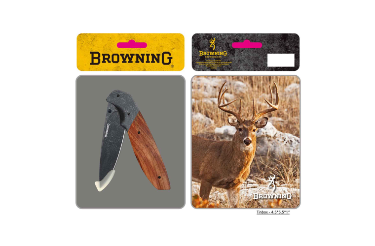 Browning Knife Whitetail Tin
