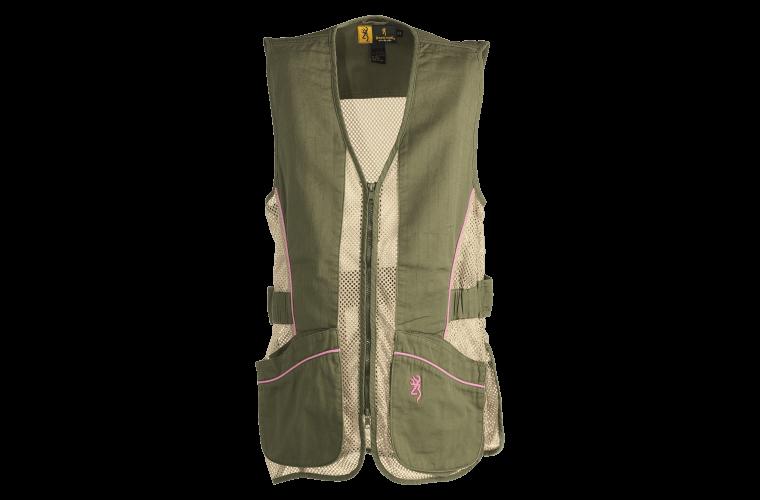 Browning Sporter II Shooting Vest Sage/Pink XL