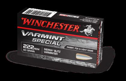 Winchester Varmint Special 222Rem 50gr Sierra Blitzking
