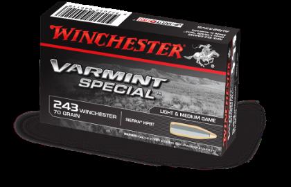 Winchester Varmint Special 243Win 70gr Sierra HPBT