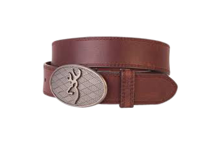 Browning Oval Buckmark Belt Brown - Size 42