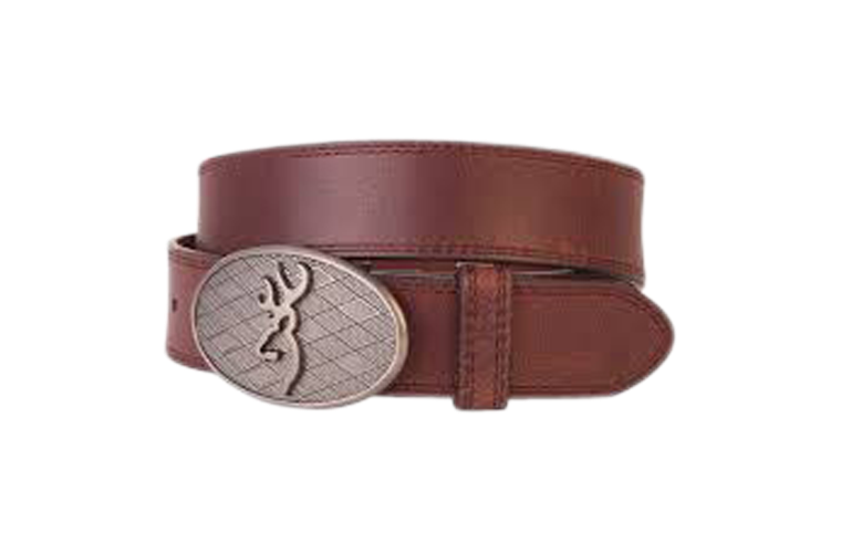 Browning Oval Buckmark Belt Brown - Size 44