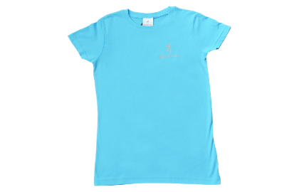 Browning Womens Buckmark Tee Aqua - Medium