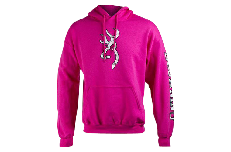 Browning Two Hit Hoodie Fuchsia - Extra Large