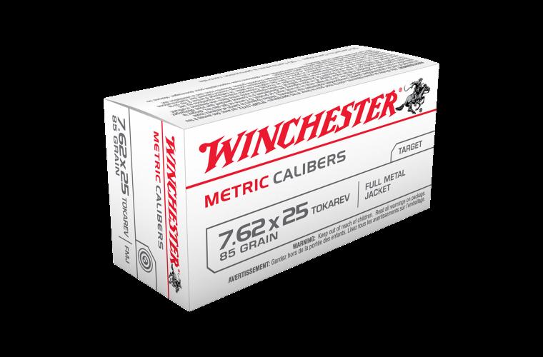 Winchester USA value pack 7.62x25 Tokarev 85gr FMJ