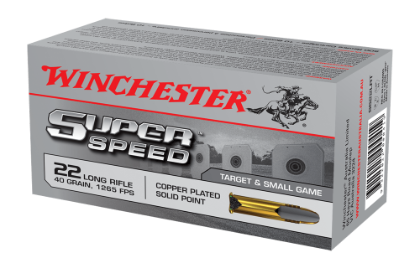 Winchester Super Speed 22LR 40gr solid copper plated
