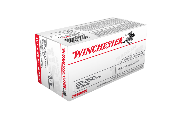 Winchester USA value pack 22-250Rem 45gr JHP