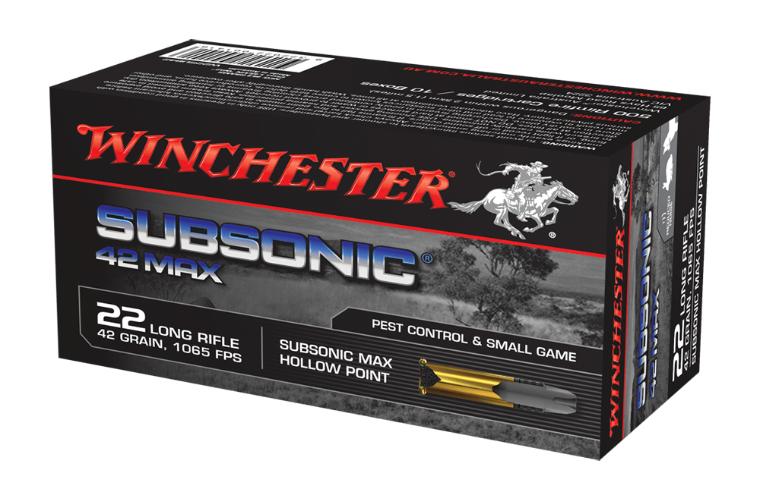 Winchester Subsonic Max 22LR 42gr HP