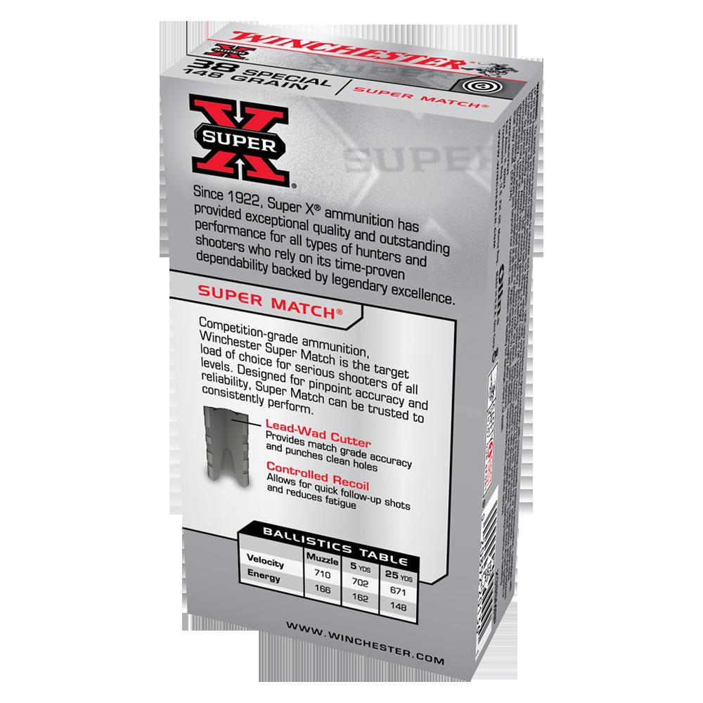 Winchester | Winchester Super X Super Match 38SP 148gr LWC
