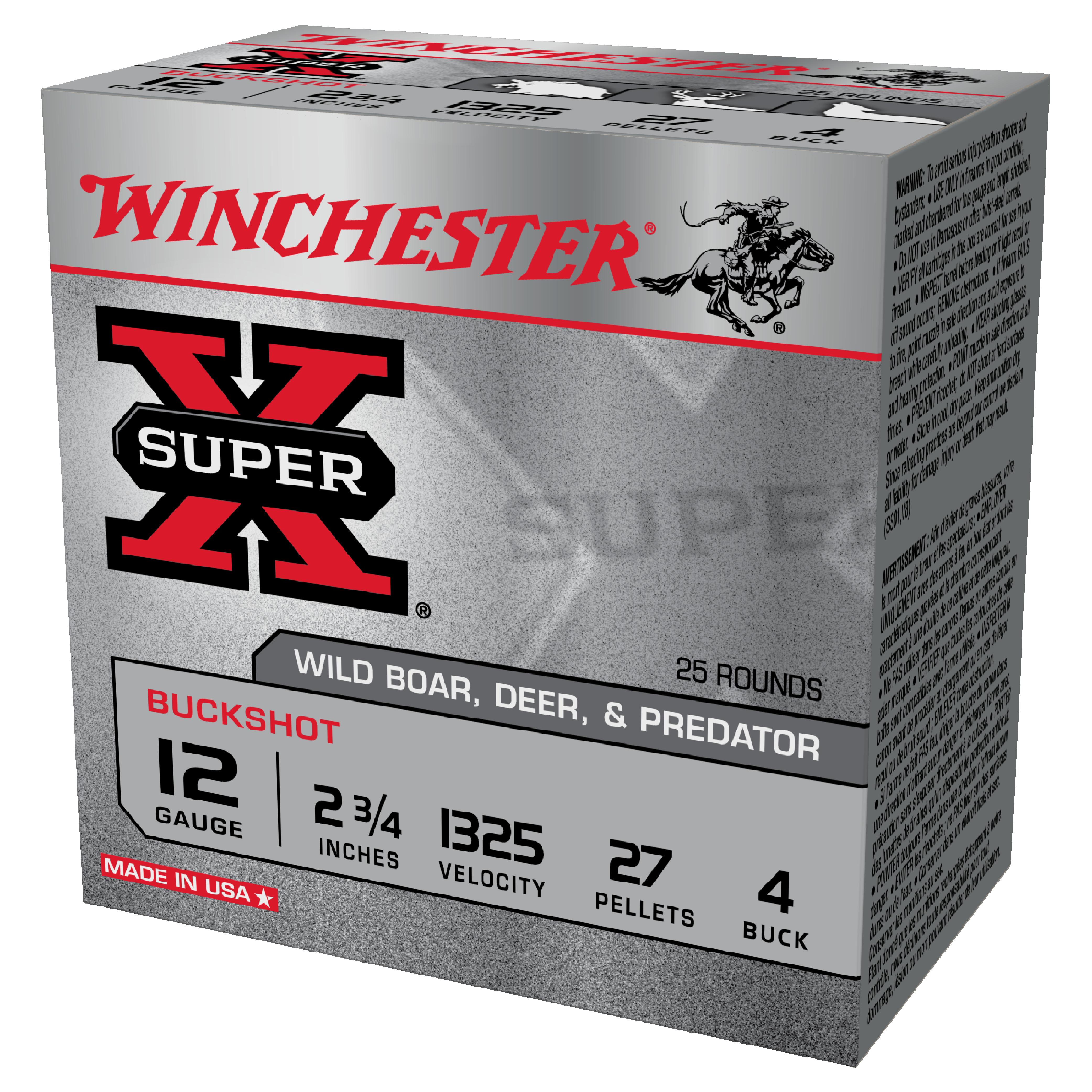 Winchester Buckshot 12G 4Buck 2-3/4