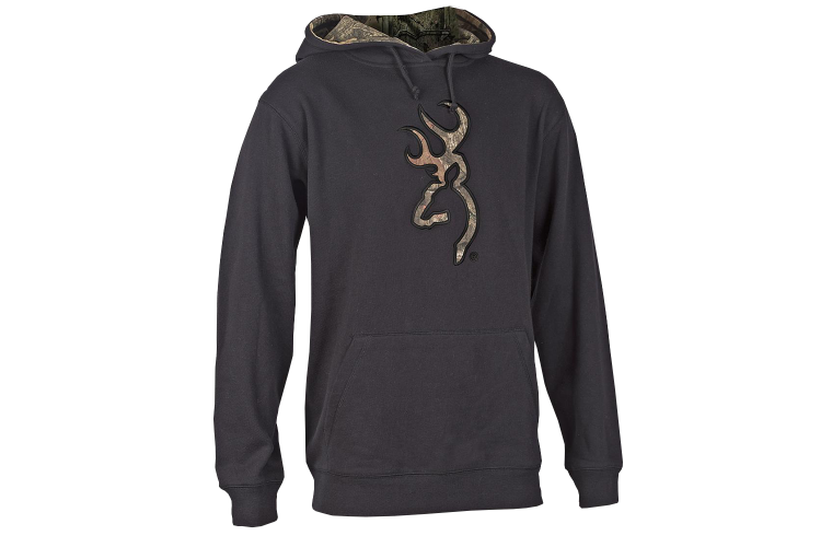 Browning Youth Buckmark Camo Hoodie Nine Irons L