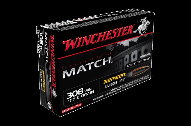 Winchester Match 308Win 155.5gr Berger BTM