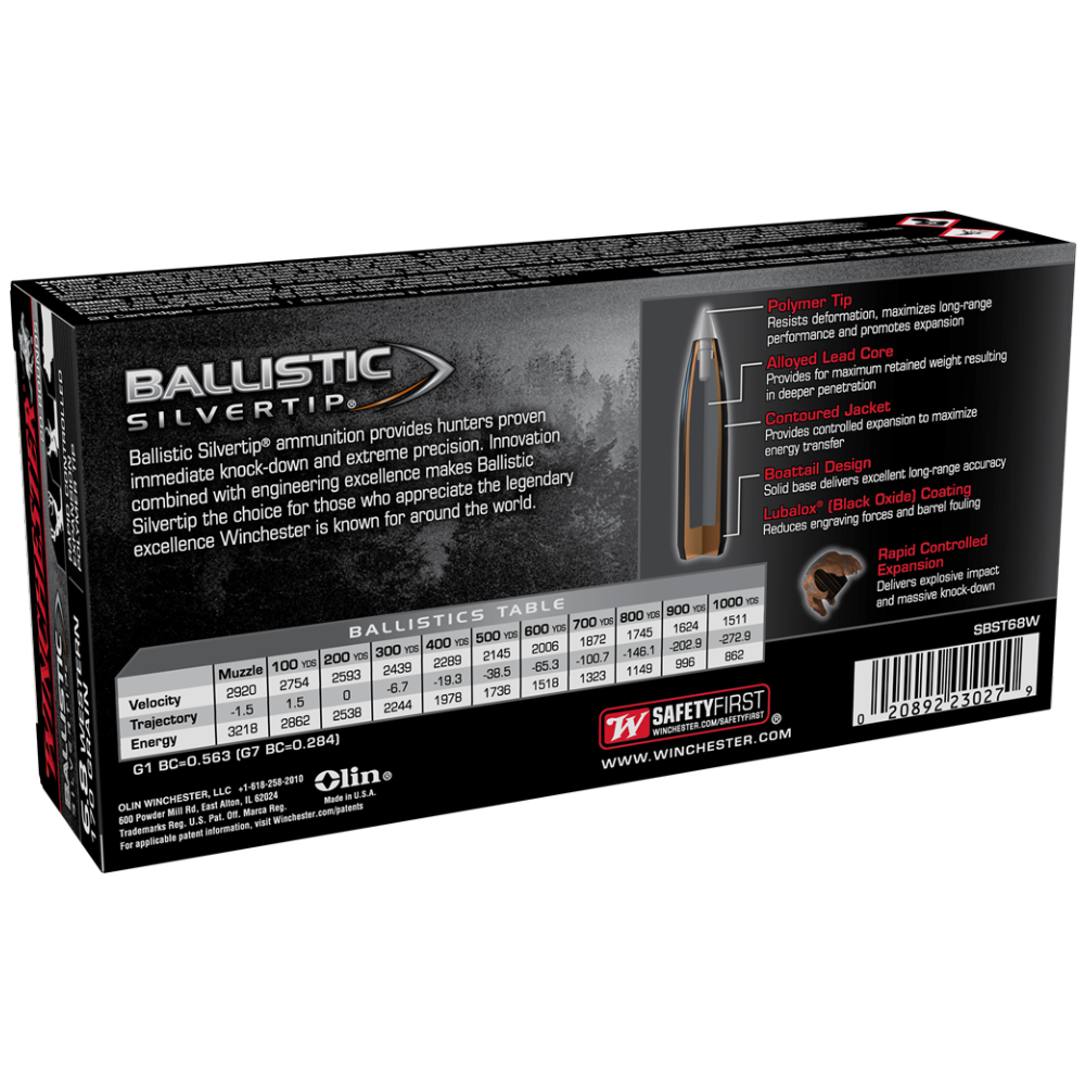 Winchester Ballistic ST 6.8 Western 170gr PT