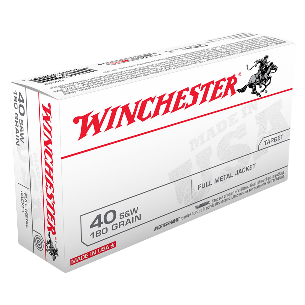 Winchester USA value pack 40S&W 180gr FMJ