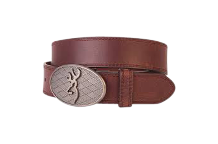Browning Oval Buckmark Belt Brown - Size 32