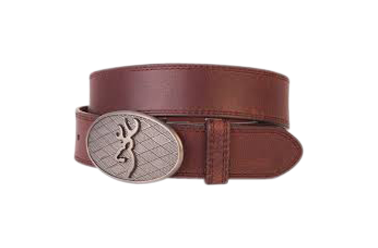Browning Oval Buckmark Belt Brown - Size 34