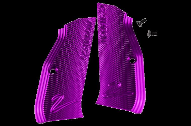 CZ Shadow 2 Purple Grips (2)