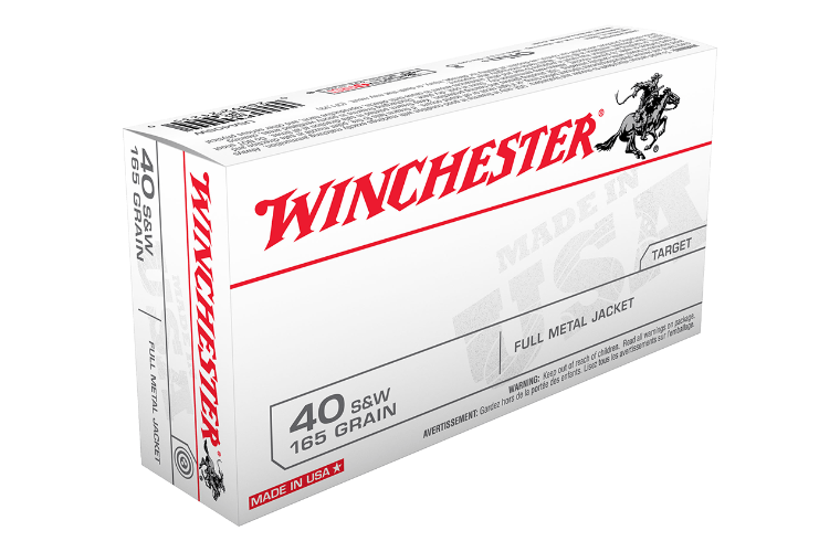Winchester USA value pack 40S&W 165gr FMJ FN