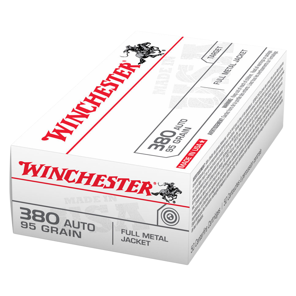 Winchester USA value pack 380 Auto 95gr FMJFN