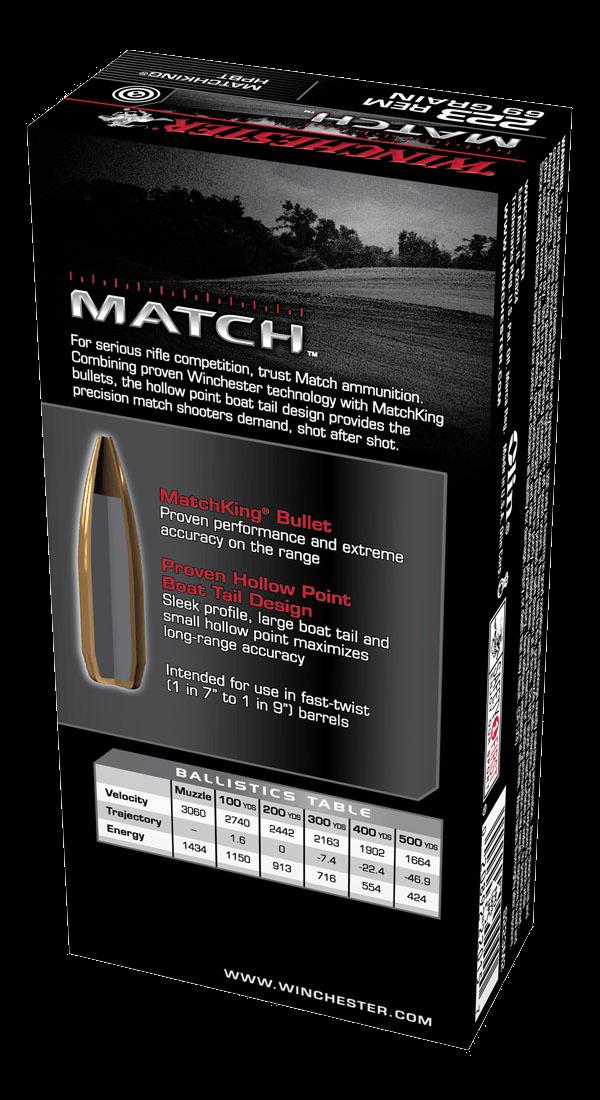 Winchester Supreme 223Rem 69gr BTHP Match
