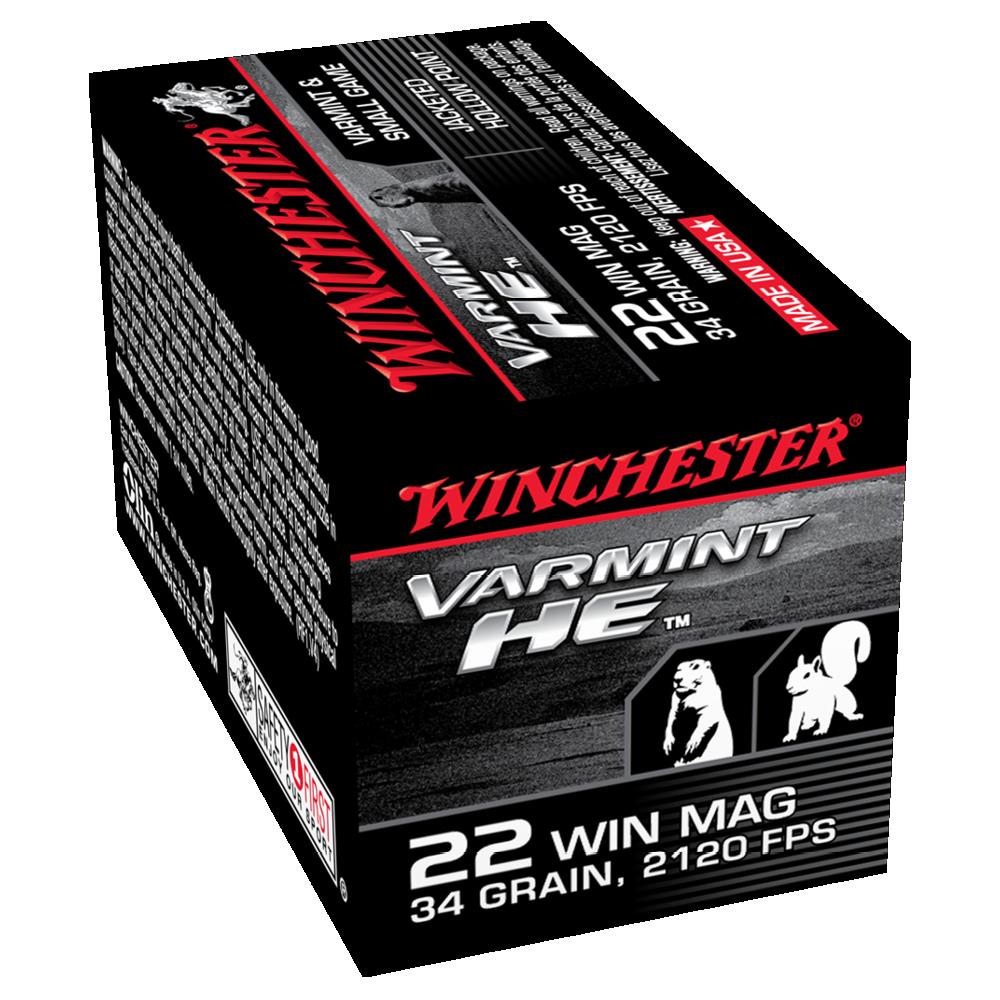 Winchester Varmint HE 22WMR 34gr JHP