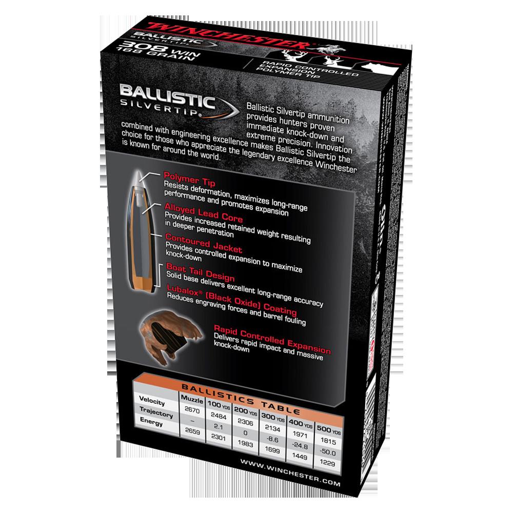 Winchester Ballistic ST 308Win 168gr PT