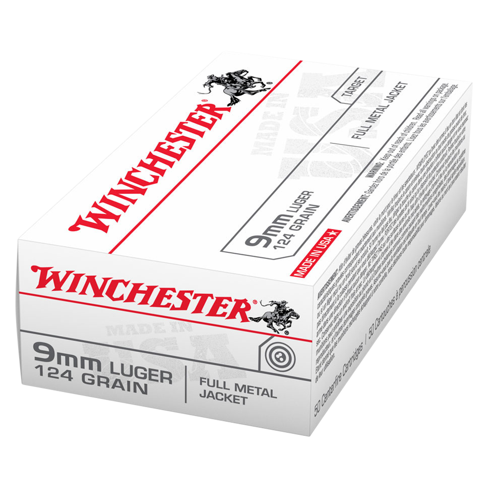 Winchester USA value pack 9MM 124gr FMJ