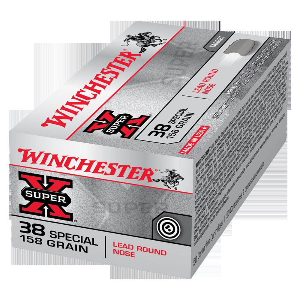 Winchester Super X 38SP 158gr LRN