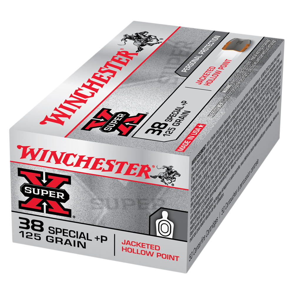 Winchester Super X 38SP +P 125gr JHP