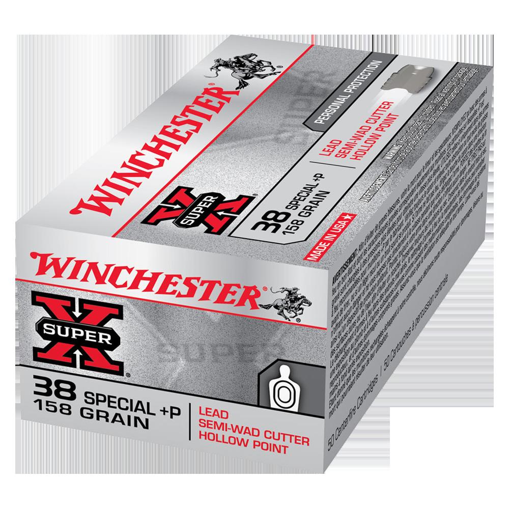 Winchester Super X 38SP +P 158gr Lead-Semi Wad Cutter HP
