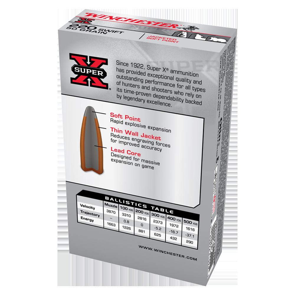 Winchester Super X 220Swift 50gr PSP