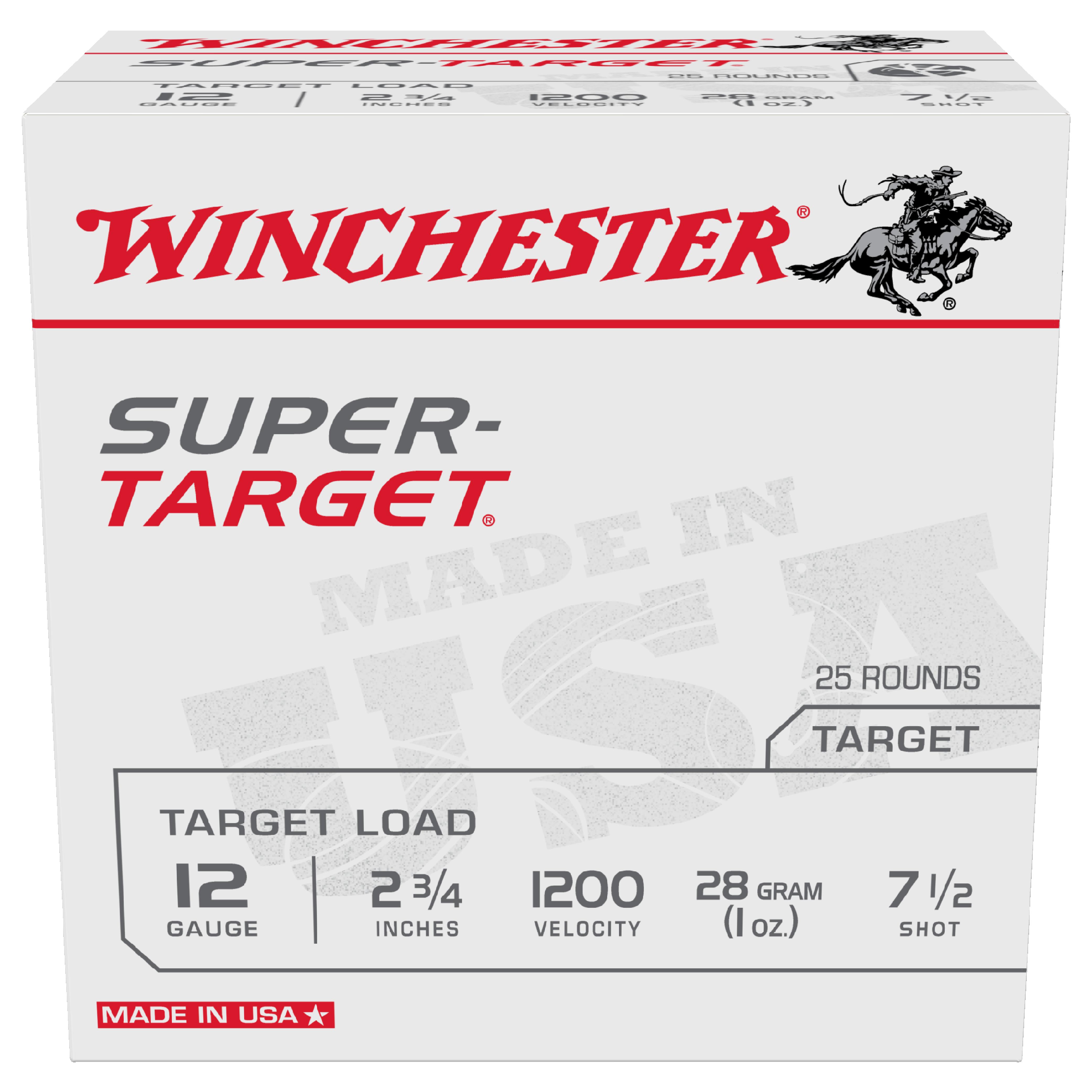 Winchester Super Target 12ga 1200fps 7.5 2-3/4