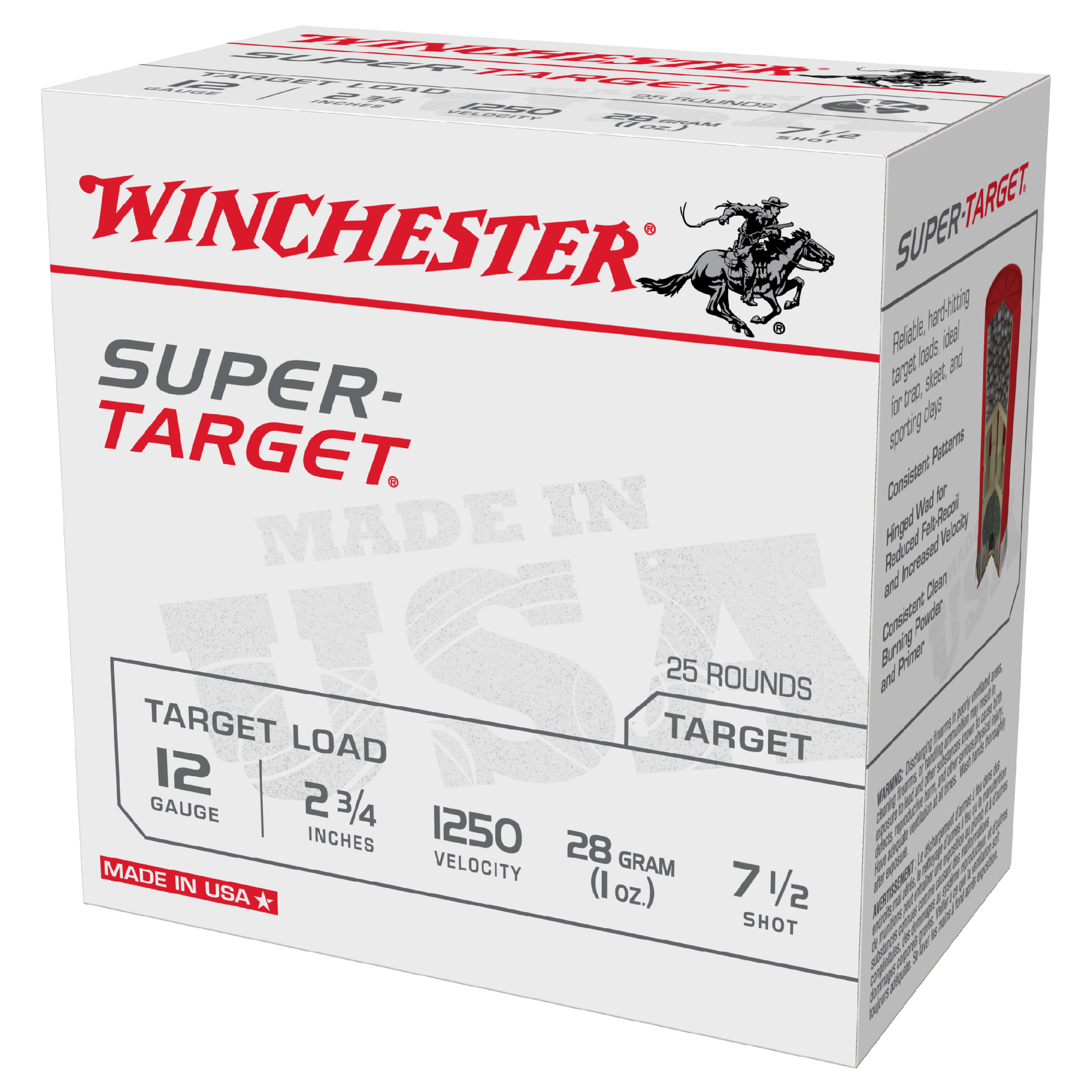 Winchester Super Target 12ga 1250fps 7.5 2-3/4