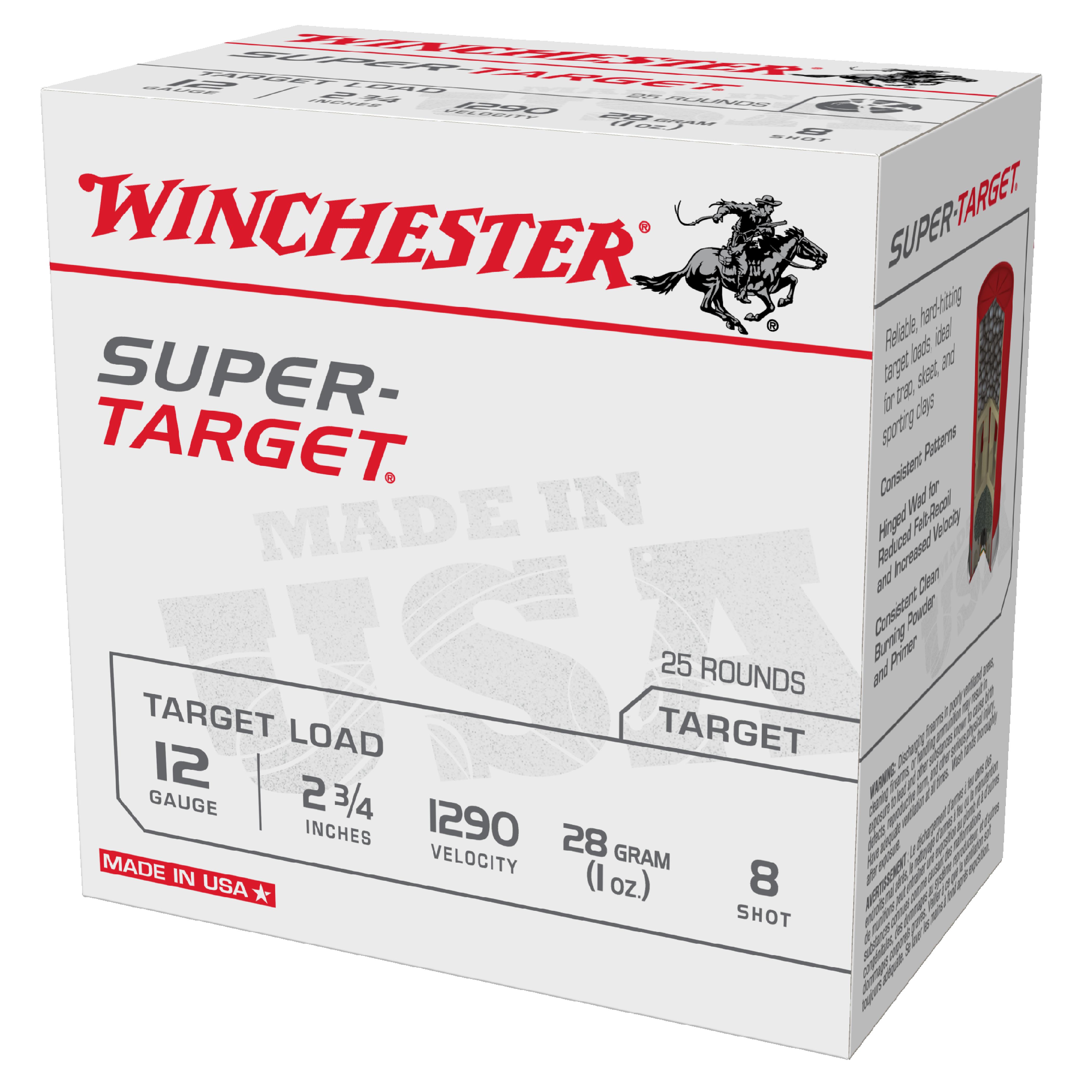 Winchester Super Target 12ga 1290fps 8 2-3/4