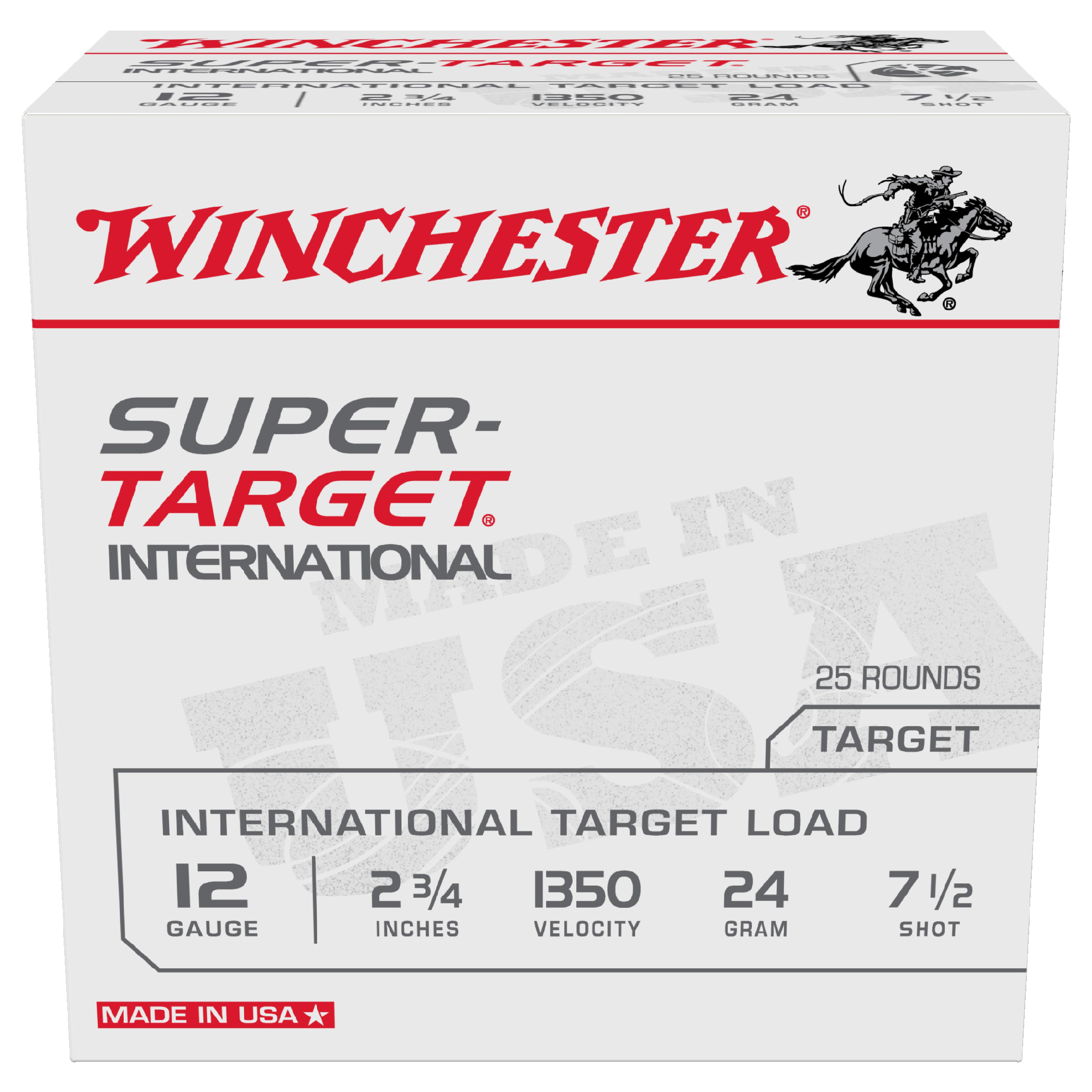 Winchester Super Target 12ga 1350fps 7.5 2-3/4