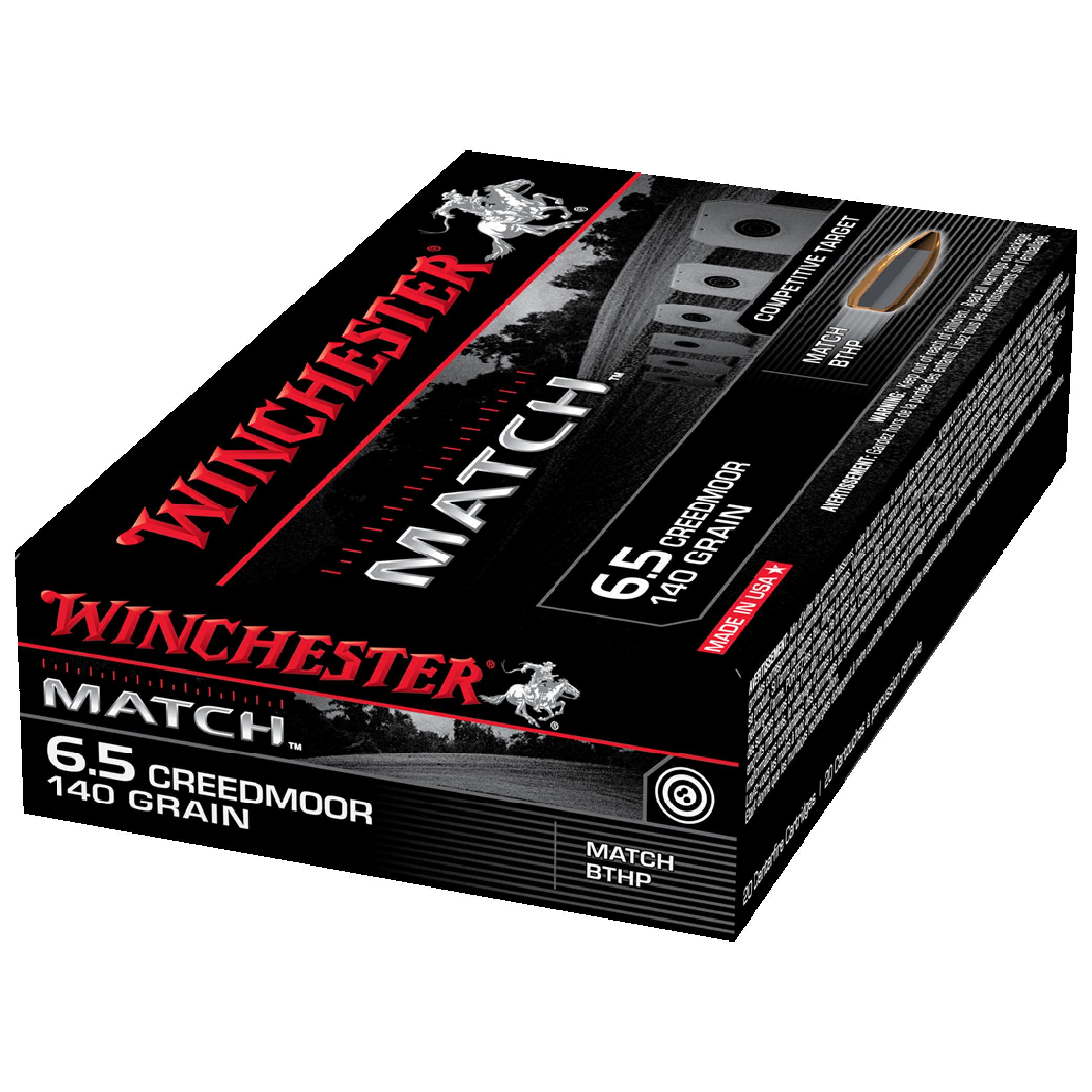 Winchester Match 6.5 Creedmoor 140gr