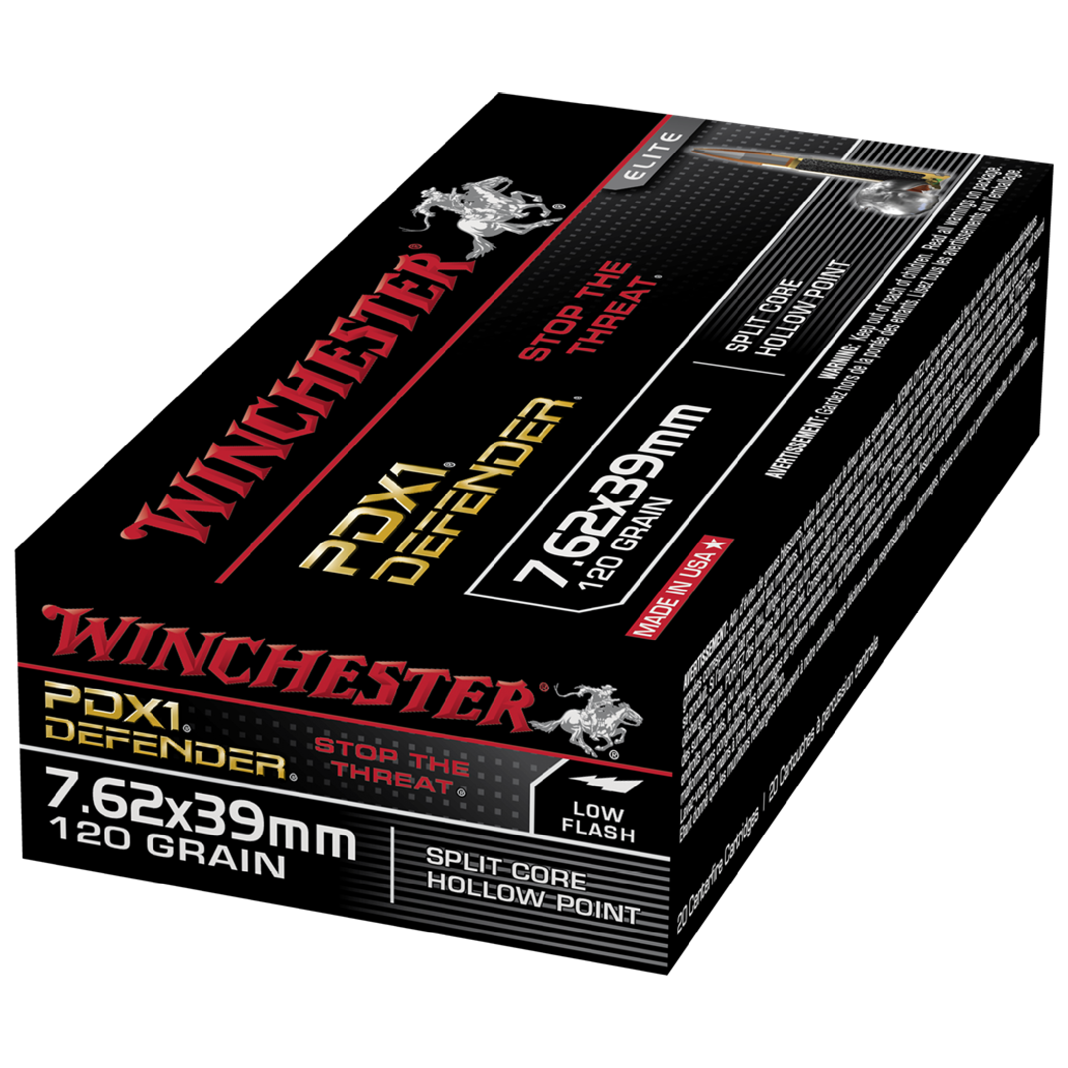 Winchester Defender 7.62x39 120gr PHP
