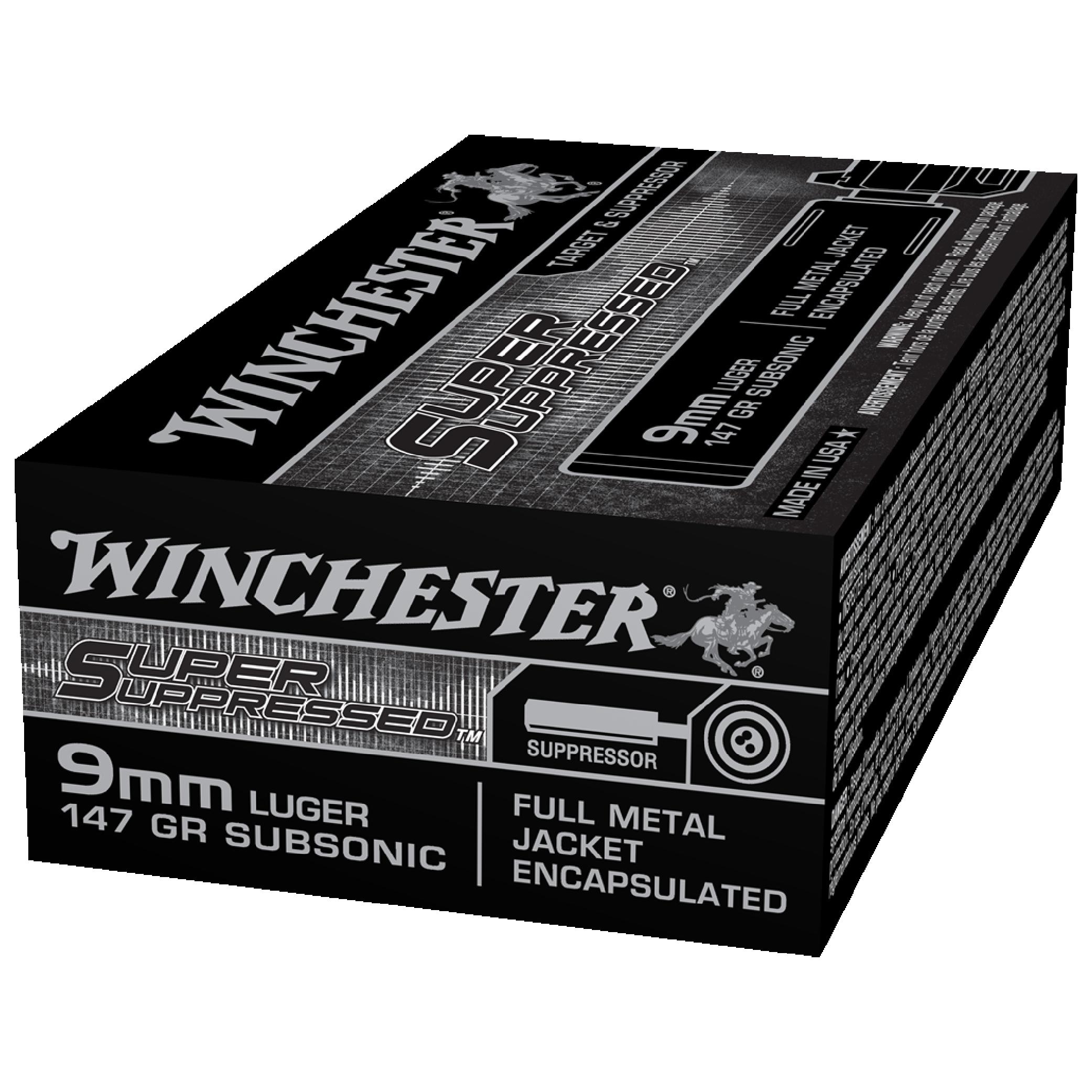 Winchester Super Suppressed 9MM 147gr FMJ