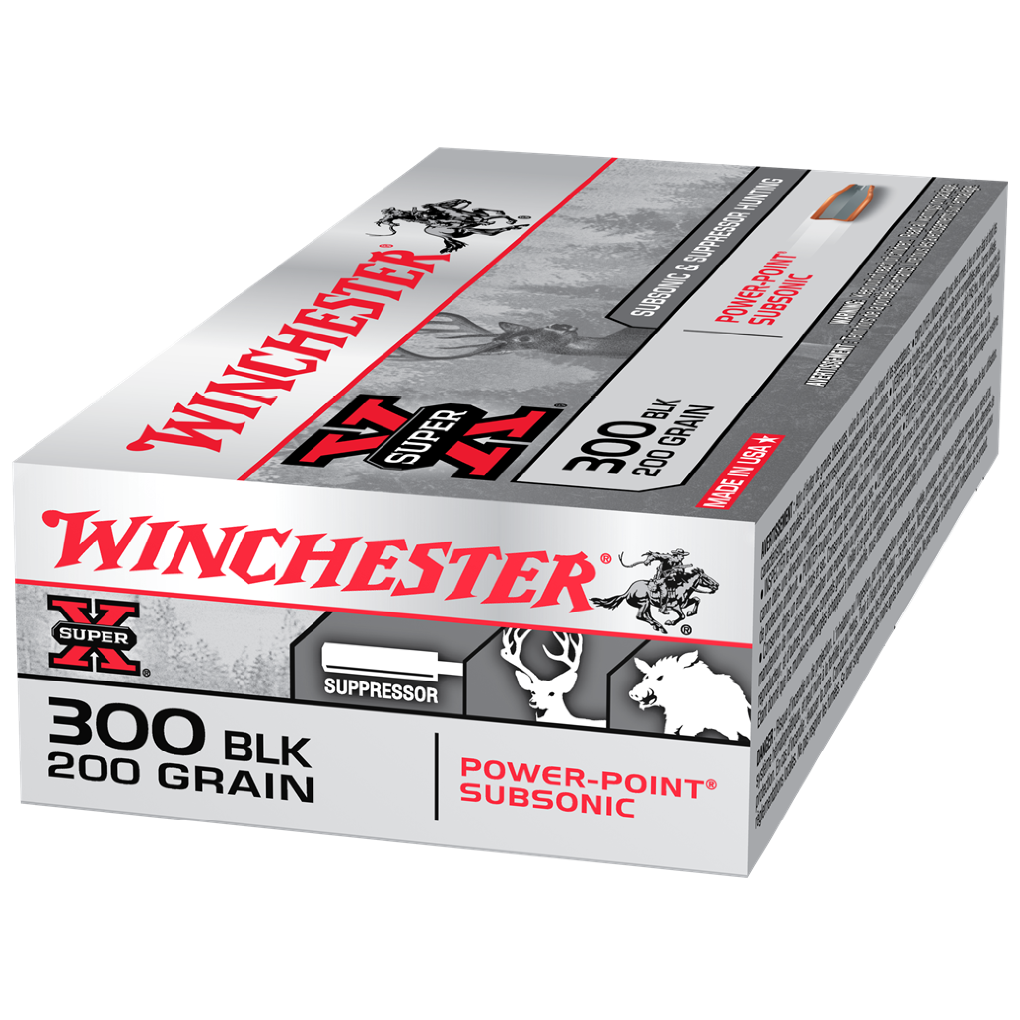 Winchester Super X 300 Black Out 200gr Subsonic PP