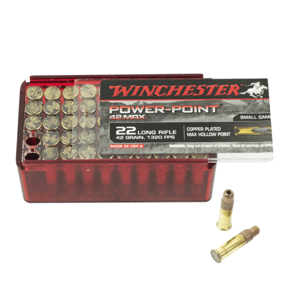Winchester Power Point Max 22LR 42gr HP copper plated