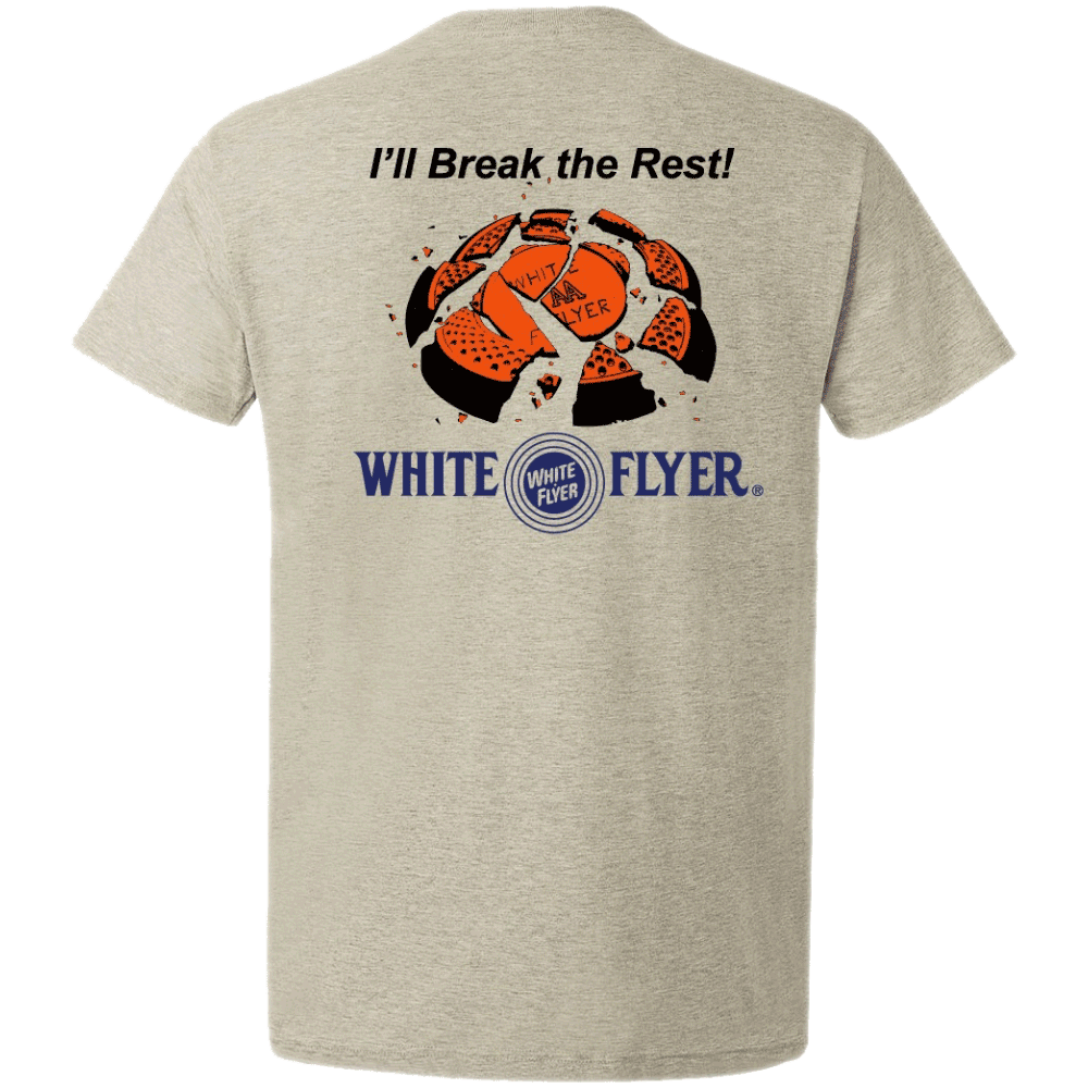 White Flyer S/S Shirt XL Grey