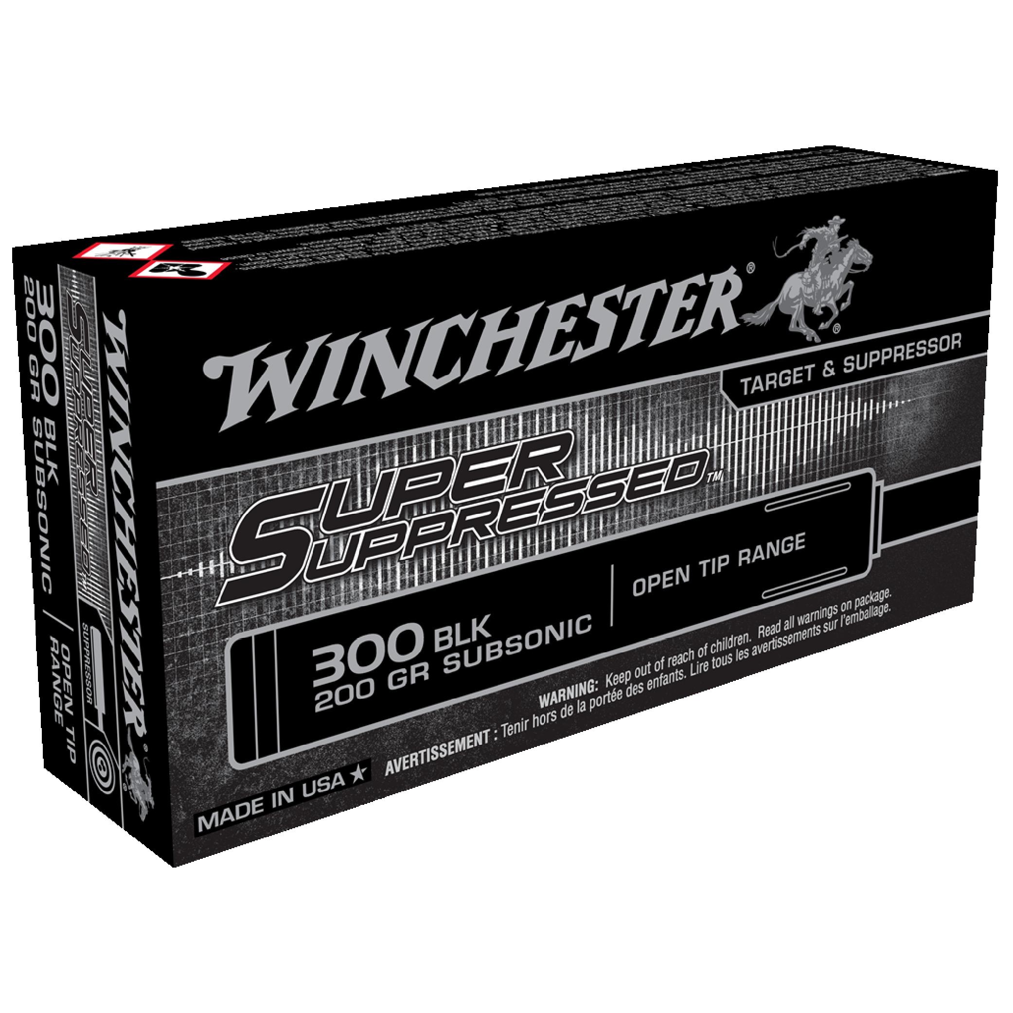 Winchester Super Suppressed 300BLK 200gr