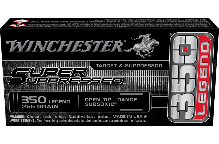 Winchester Super Suppressed 350 Legend 255gr OT