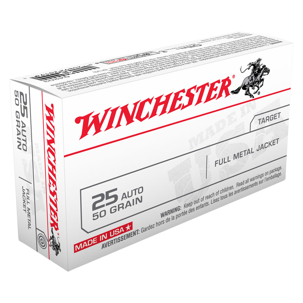 Winchester USA value pack 25 Auto 50gr FMJ