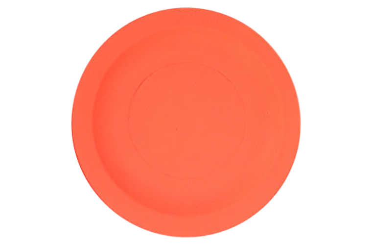 White Flyer Pitch Orange Top Battue Clay Targets