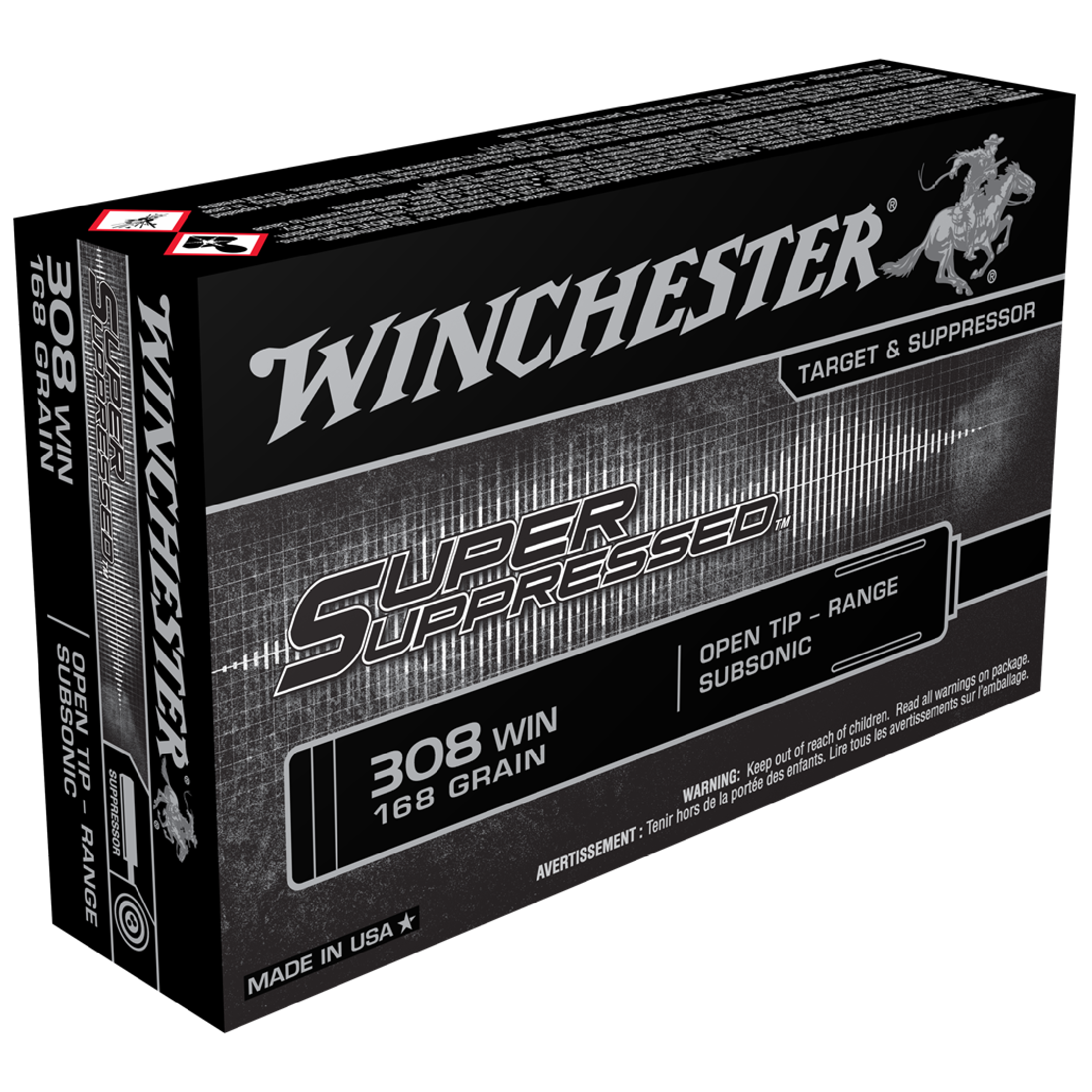 Winchester Super Suppressed 308Win 168gr