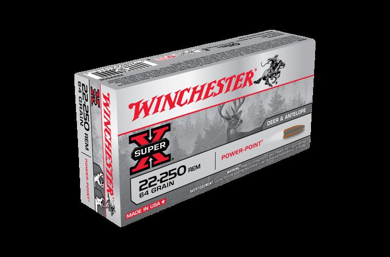 Winchester Super X 22-250Rem 64gr PP