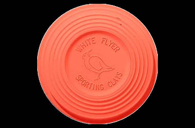 White Flyer Pitch Orange Top Midi Clay Targets