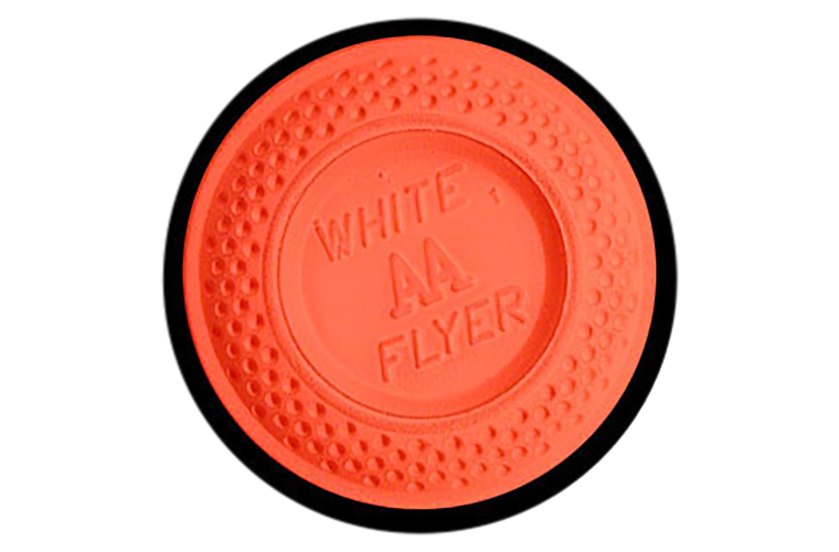 White Flyer Pitch Trap / Skeet Orange Dome Clay Targets